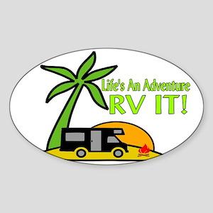 RV Adventure New Sticker (Oval)