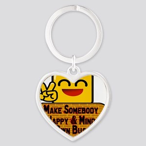 Mind Your Business New Heart Keychain