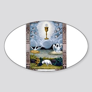 The holy eucharist - 1848 Sticker (Oval)