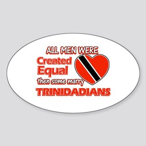 Trinidadian Wife Designs Sticker (Oval)