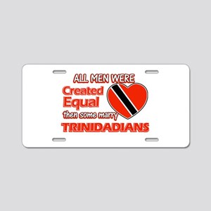 Trinidadian Wife Designs Aluminum License Plate
