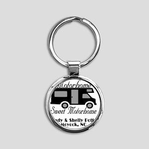 Custom Motorhome Sweet Motorhome Round Keychain