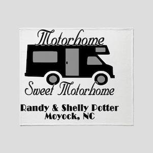 Custom Motorhome Sweet Motorhome Throw Blanket