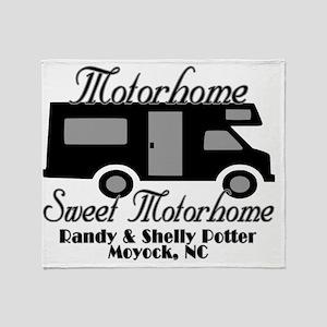 Custom Motorhome Sweet Motorhome Des Throw Blanket