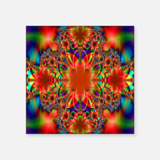 """Gorgeous Blossoming Floral  Square Sticker 3"""" x 3"""""""