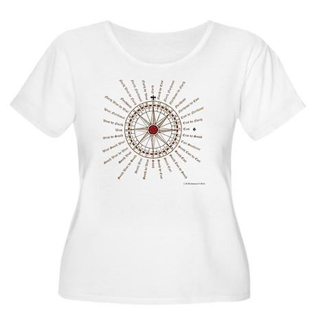 #V-62 Compose Women's Plus Size Scoop Neck T-Shirt