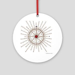 #V-62 Compose square Round Ornament
