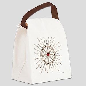 #V-62 Compose square Canvas Lunch Bag
