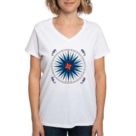 Compose Rose V-116 square Women's V-Neck T-Shirt
