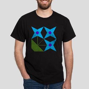 Mini Quilt Design V-123 square Dark T-Shirt