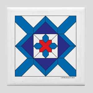 Quilt Design V-143 square w edge Tile Coaster