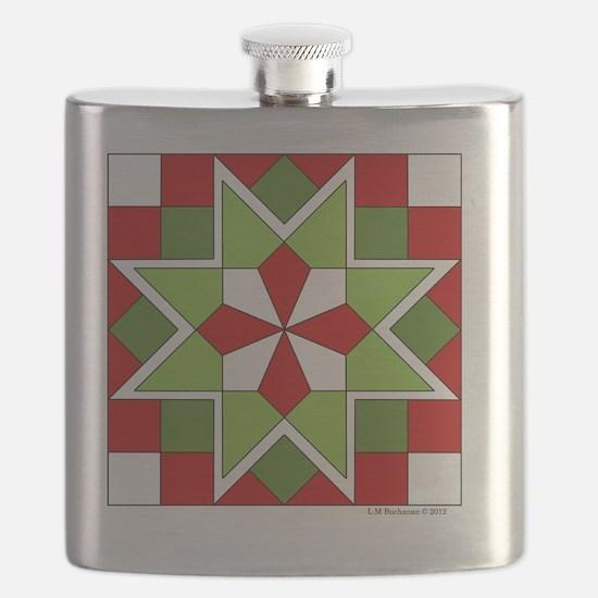 Quilt Design V-145 square Flask