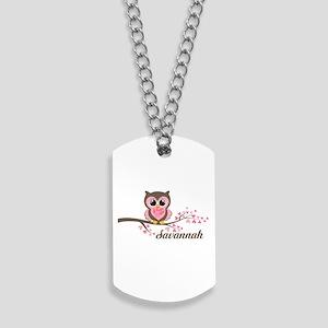 Custom Valentines Day owl Dog Tags