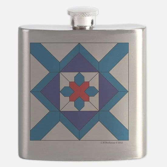 Quilt Design V-143 square Flask