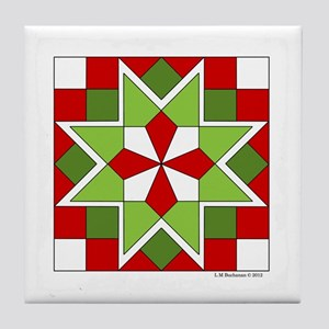 Quilt Design V-145 square w edge Tile Coaster