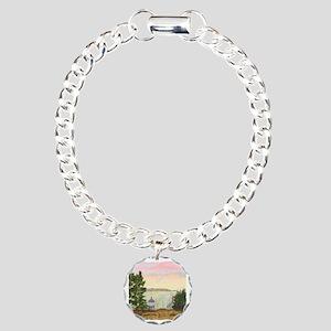 #12 Square w edge Charm Bracelet, One Charm