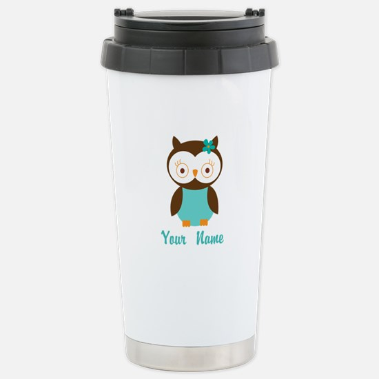 Personalized Owl Stainless Steel Travel Mug
