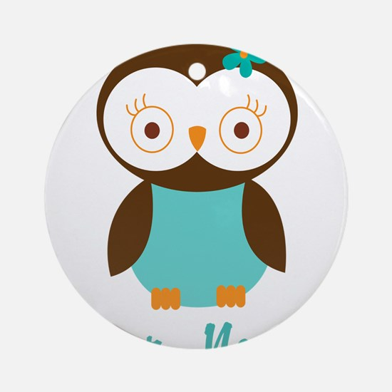 Personalized Owl Ornament (Round)