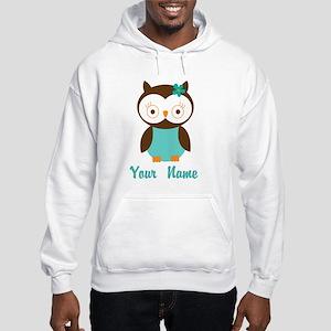 Personalized Owl Hooded Sweatshirt