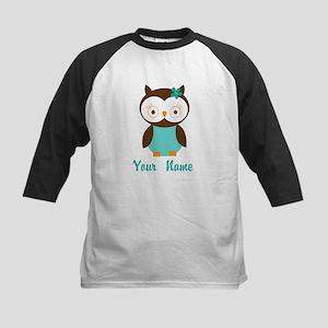 Personalized Owl Kids Baseball Jersey