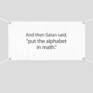 Put The Alphabet In Math Banner