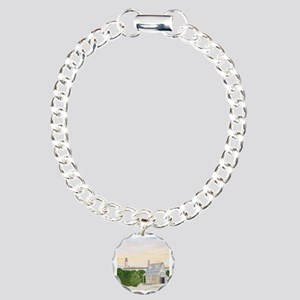 #27 square w edge Charm Bracelet, One Charm