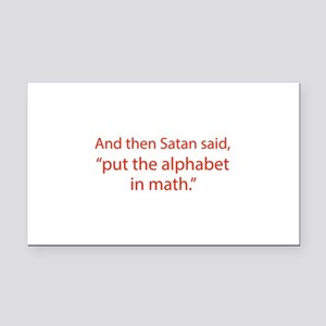 Put The Alphabet In Math Rectangle Car Magnet