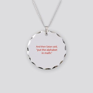 Put The Alphabet In Math Necklace Circle Charm