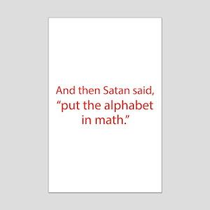 Put The Alphabet In Math Mini Poster Print