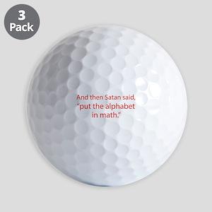 Put The Alphabet In Math Golf Balls