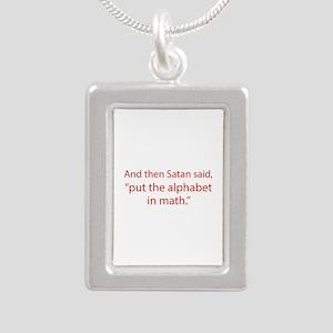 Put The Alphabet In Math Silver Portrait Necklace