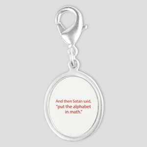 Put The Alphabet In Math Silver Oval Charm