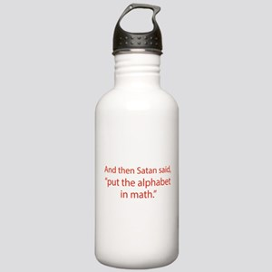 Put The Alphabet In Math Stainless Water Bottle 1.