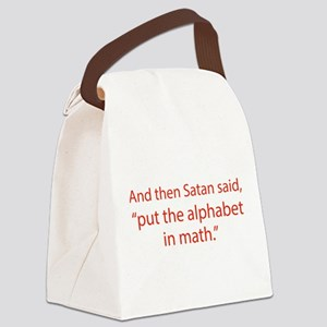 Put The Alphabet In Math Canvas Lunch Bag