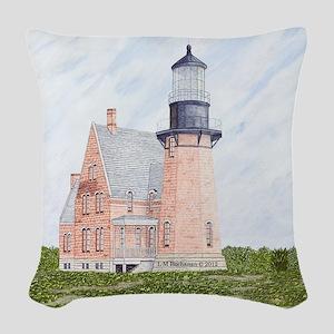 #50 square Woven Throw Pillow