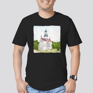 #30 square w edge Men's Fitted T-Shirt (dark)