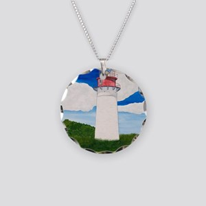 #25 Mouse Pad Necklace Circle Charm
