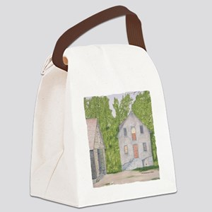 #14 square w edge Canvas Lunch Bag