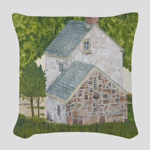 #1 square Woven Throw Pillow