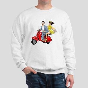Vespa Girl With Italian Man Sweatshirt