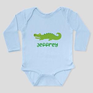 Personalized Crocodile Alligator Long Sleeve Infan