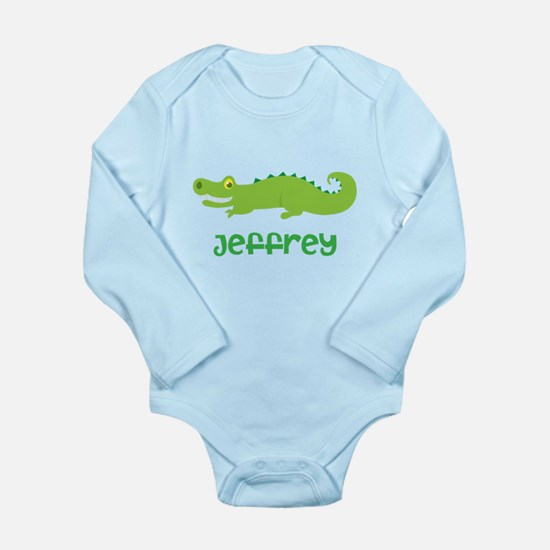 Personalized Crocodile Alligator Long Sleeve Infan