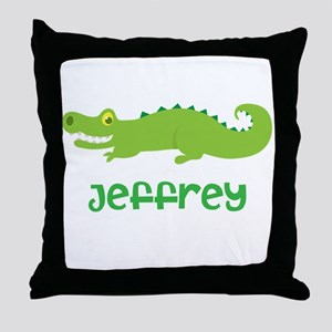 Personalized Crocodile Alligator Throw Pillow