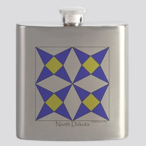North Dakota square w edge Flask
