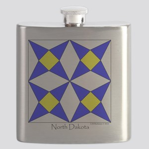 North Dakota square Flask