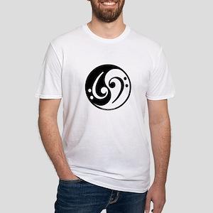 Yin Yang Bass Note Fitted T-Shirt