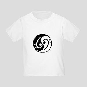 Yin Yang Bass Note Toddler T-Shirt