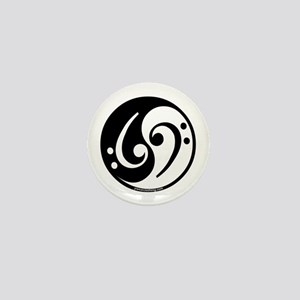 Yin Yang Bass Note Mini Button