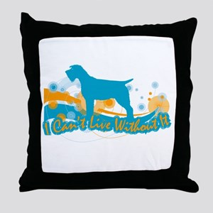 Wirehaired Pointing Griffon Throw Pillow