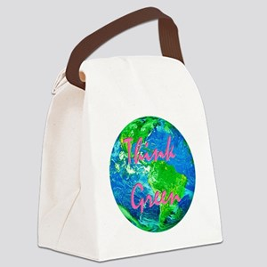 Green Earth Canvas Lunch Bag